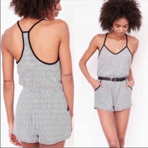 Anthropologie Silence + Noise Striped Romper XS